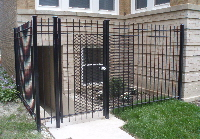6 ft high Iron fence  with mesh