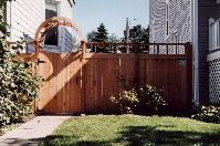 custom top and arbor over gate